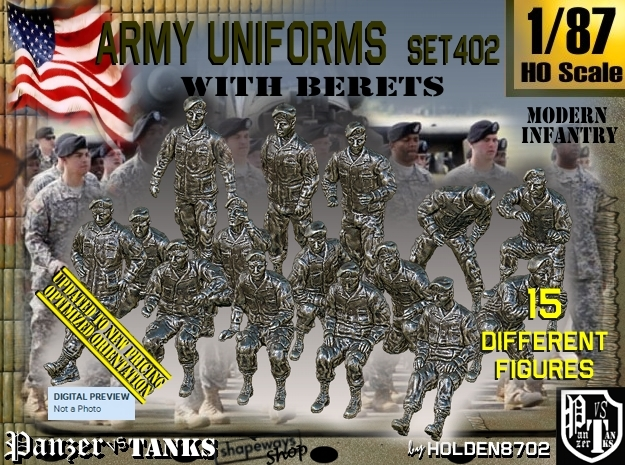 1/87 Modern Uniforms Berets Set402