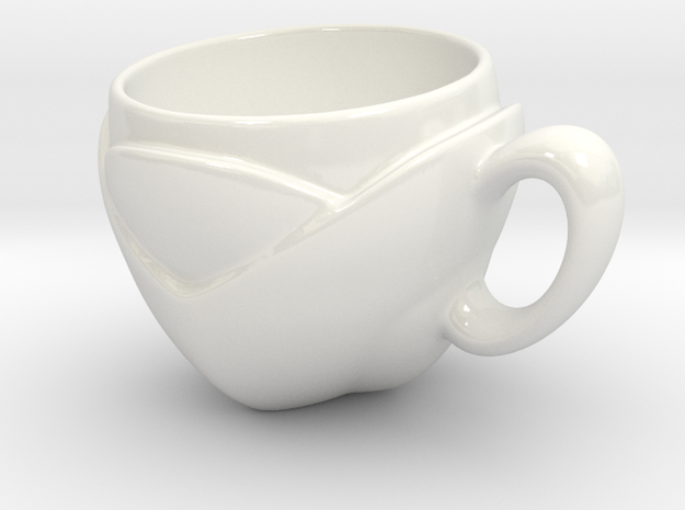 LeafCup in Gloss White Porcelain: Medium