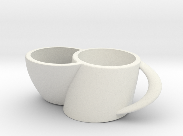 2joinCup C in White Natural Versatile Plastic: Medium