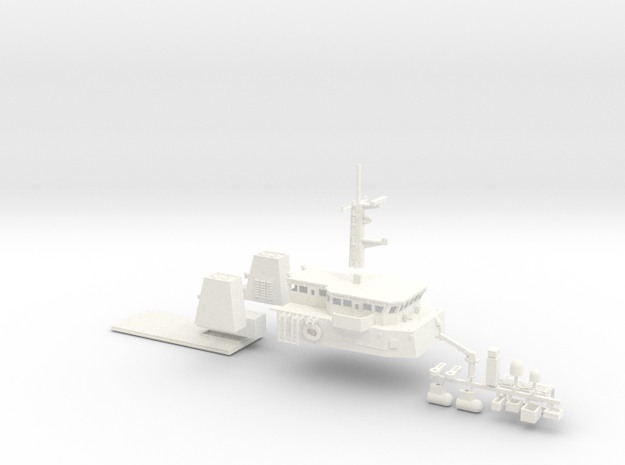 HMCS Kingston, Details 1 of 2 (1:160, RC) in White Strong & Flexible Polished
