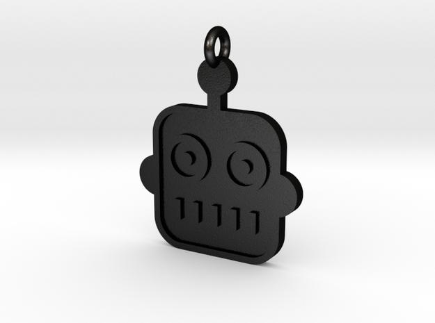 Robot Pendant in Matte Black Steel