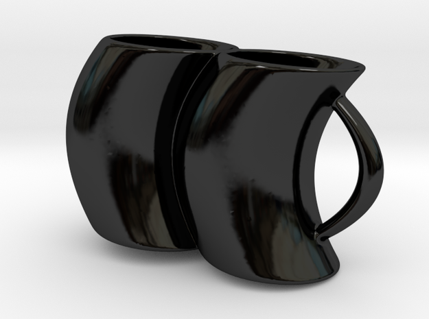 2joinCup A in Gloss Black Porcelain: Medium