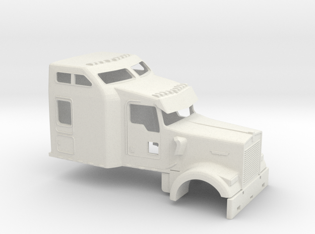 1/14 Kenworth W900 Cab in White Natural Versatile Plastic