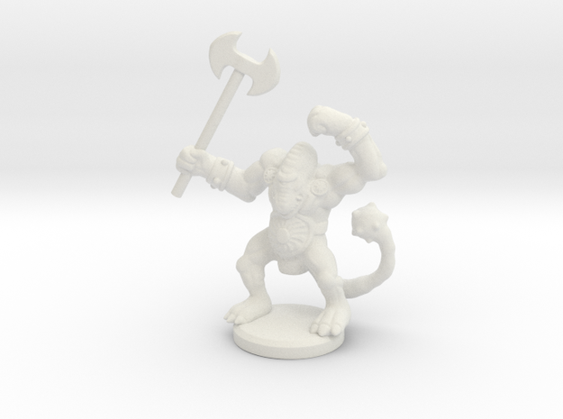 HeroQuest Fimir Miniature in White Natural Versatile Plastic
