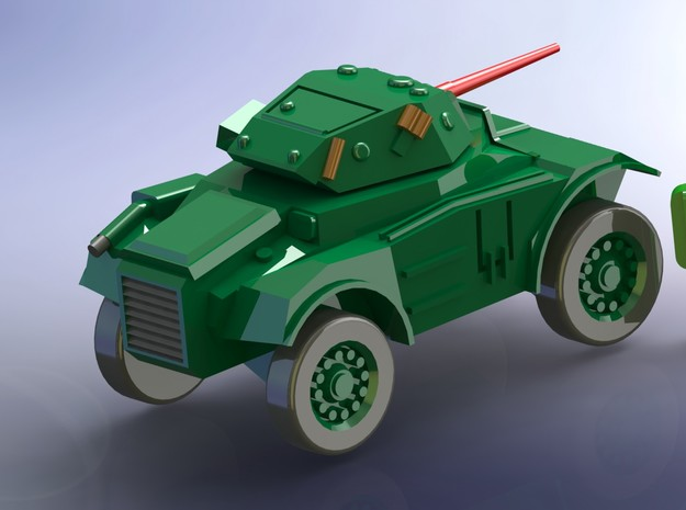 British Coventry Amoured Car Mk I 1/285 6mm 3d printed w/o Figure Red Barrel not included