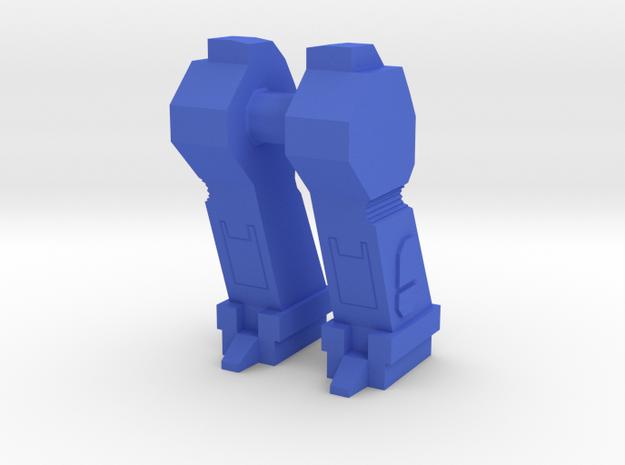 Transformers G1 Headmaster Lokos Squeezeplay LOWER in Blue Processed Versatile Plastic