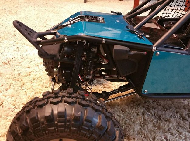 RR10 STINGER FRONT BUMPER, w/ Winch mounting - V2 in Black Strong & Flexible