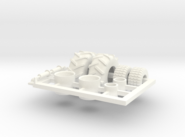 1/64 Tread Tires for 2320 TBH Air Cart in White Processed Versatile Plastic