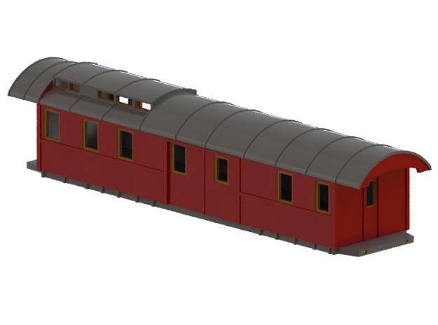 DFo7 - Swedish passenger wagon in Smooth Fine Detail Plastic