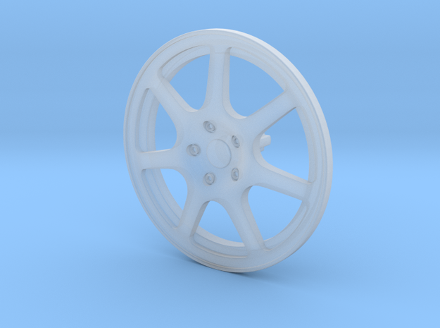 Racing Wheel Cover 15_43mm in Smooth Fine Detail Plastic