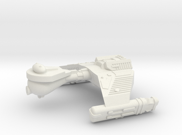 3788 Scale Klingon F5WK Refitted War Destroyer WEM in White Natural Versatile Plastic