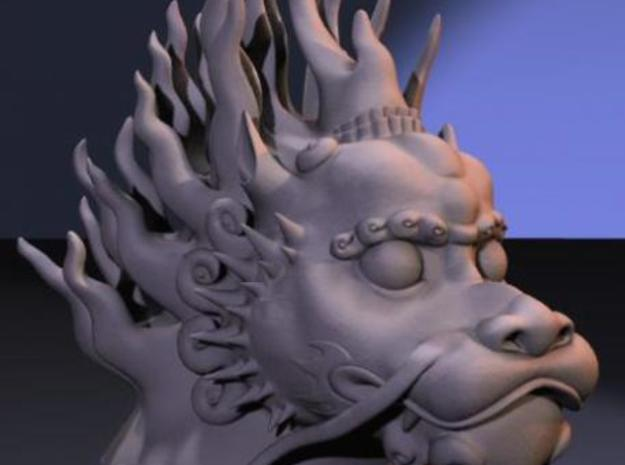 Lion Dog Bust 3d printed 3D Render