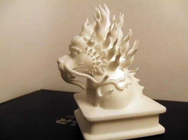 Lion Dog Bust 3d printed Side shot
