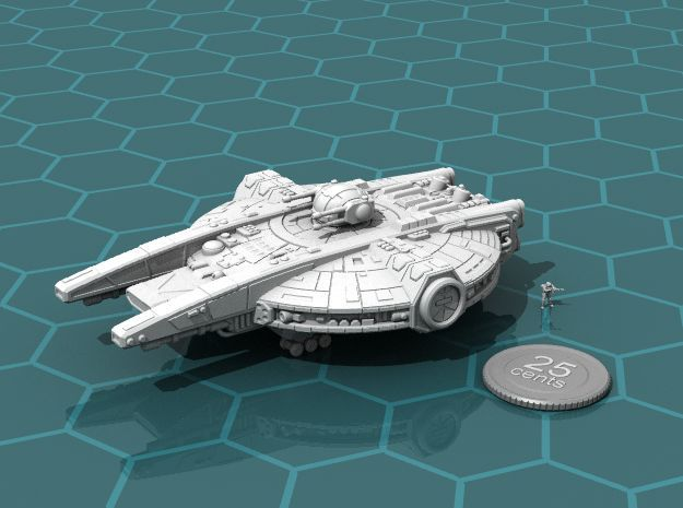 YT-2350 Military Transport in White Natural Versatile Plastic