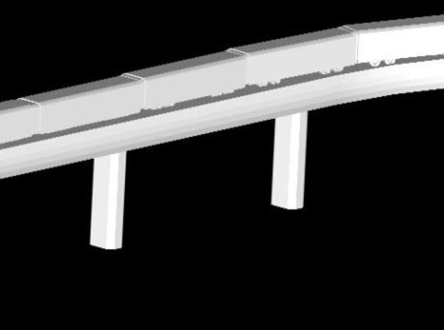 Airport 1:400 Column Rail  in White Natural Versatile Plastic