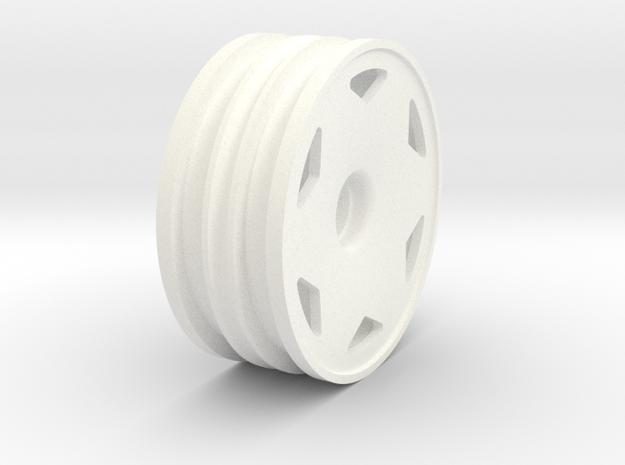 Tamiya NeoFighter front wheel in White Processed Versatile Plastic