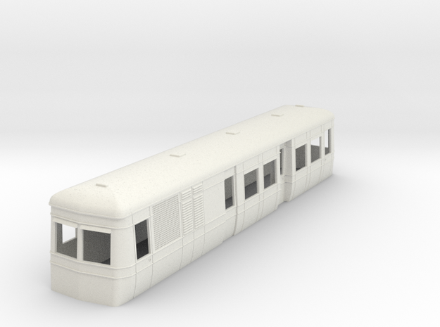 On16.5 Freelance AW railcar body  in White Natural Versatile Plastic