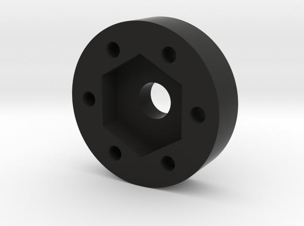 RC4WD 12mm hex hub adapter in Black Natural Versatile Plastic