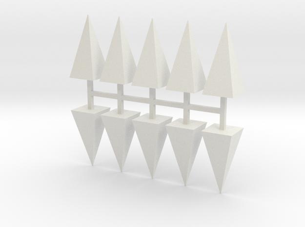 Parkhecke Buchsbaum Pyramide 10er Set - 1:120 in White Natural Versatile Plastic