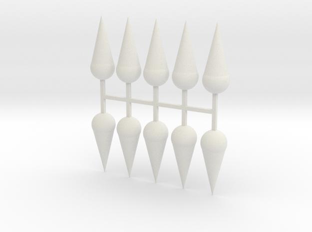 Parkhecke Buchsbaum Kugelkegel 10er Set - 1:120 in White Natural Versatile Plastic