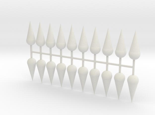 Parkhecke Buchsbaum Kugelkegel 20er Set - 1:120 in White Natural Versatile Plastic