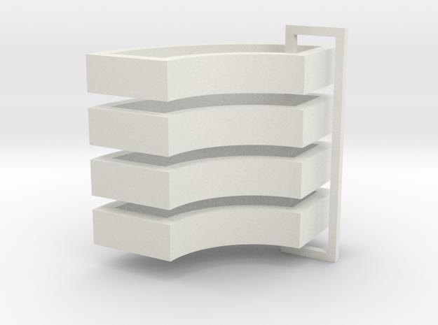 Parkhecke doppelt gerundet breit (Buchsbaum) 4er S in White Natural Versatile Plastic