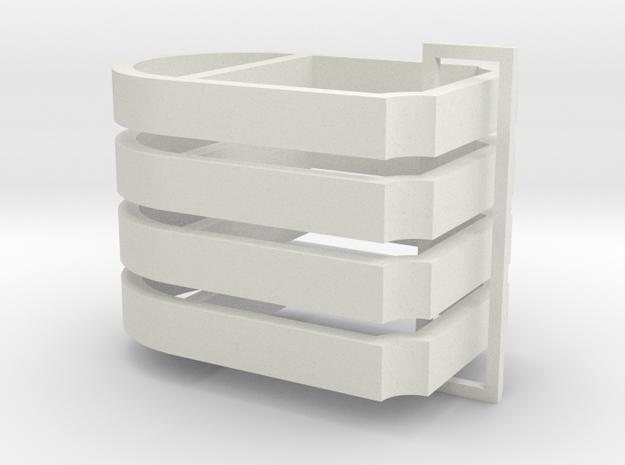 Parkhecke oval gekappt verstrebt Ecken eingerückt  in White Natural Versatile Plastic