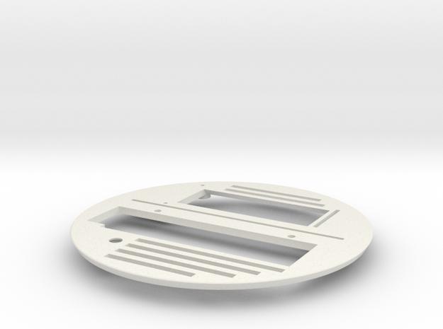 Base_Plate_v1 in White Strong & Flexible