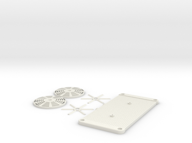 GOM - Radiator Set  in White Natural Versatile Plastic