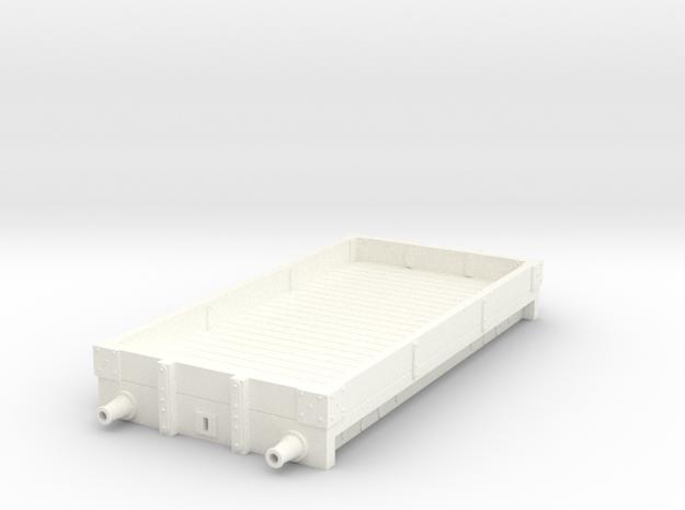 Furness Railway/LMS 1 plank open in White Processed Versatile Plastic