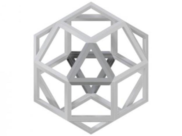 rhombicuboctahedron 3d printed Description