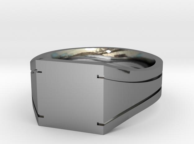 Custom engraved signet Ring - Chevaliere diam 63 in Premium Silver