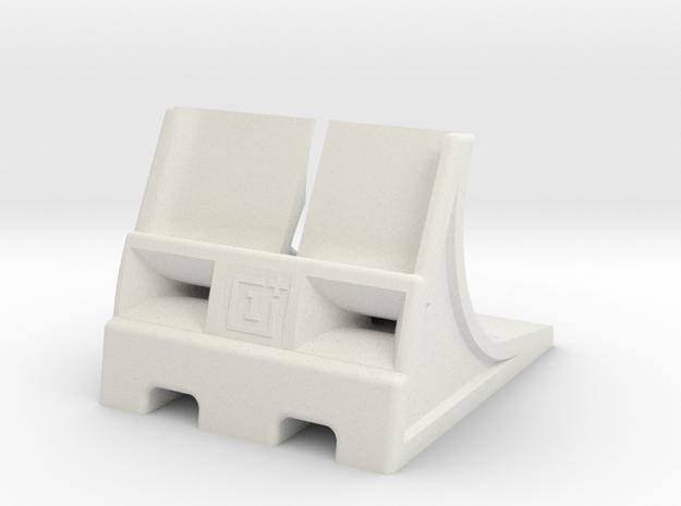 Oneplus 3 dock V5 in White Natural Versatile Plastic