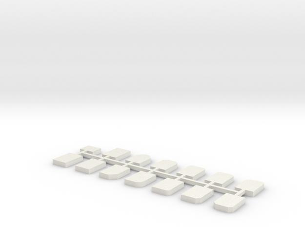 Grabsteine 14er Set 1:76 in White Natural Versatile Plastic