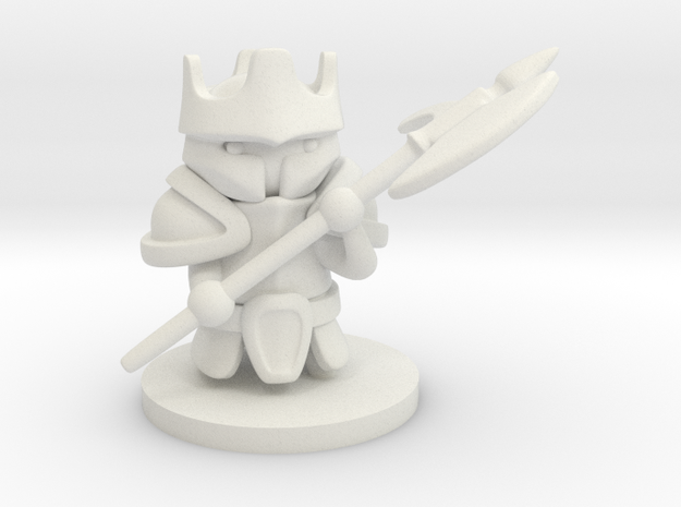 Heavy Knight in White Natural Versatile Plastic