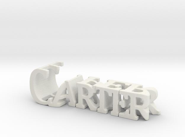 3dWordFlip: Carter/Piper in White Natural Versatile Plastic