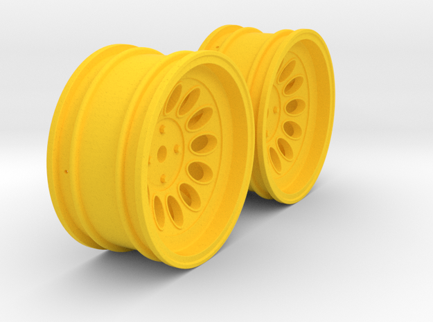 Wheels - 26mm Touring - Alfa 2000 GTAM +6mm Offset in Yellow Processed Versatile Plastic