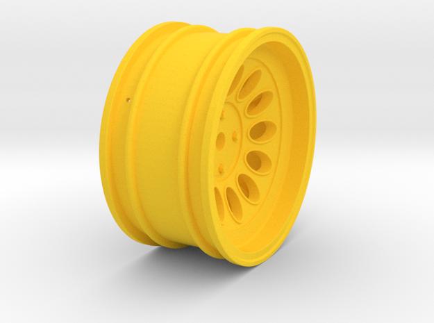 Wheel - 26mm Touring - Alfa 2000 GTAM +6mm Offset in Yellow Processed Versatile Plastic