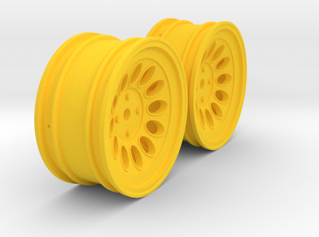 Wheels - 26mm Touring - Alfa 2000 GTAM +3mm Offset in Yellow Processed Versatile Plastic