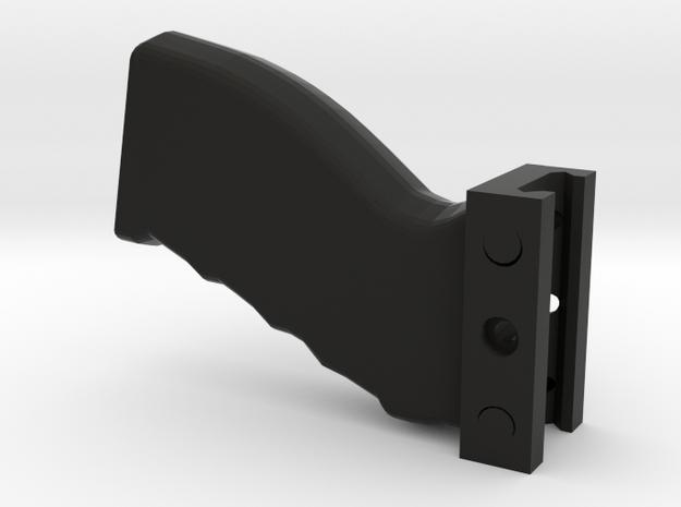 Heavy-Duty Weaver/Picatinny Foregrip in Black Natural Versatile Plastic