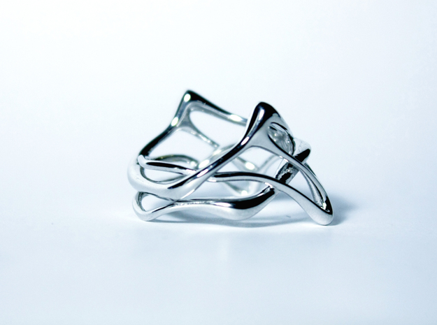 Melpomène Ring in Rhodium Plated Brass: 3 / 44