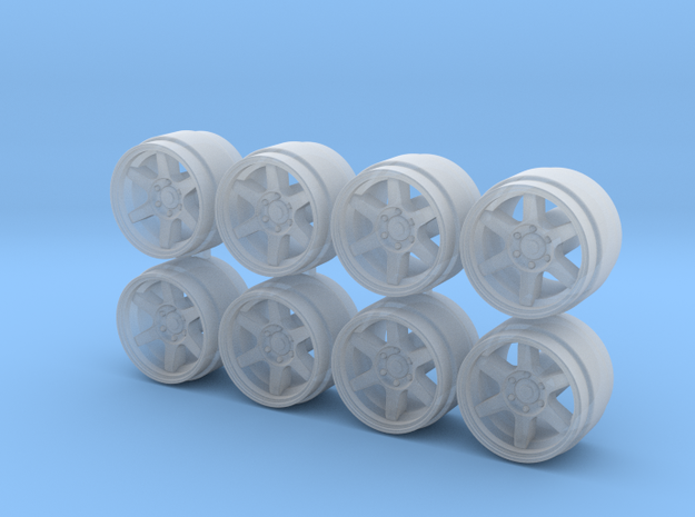 Large PCD TE37 Truck Hot Wheels Rims in Frosted Extreme Detail