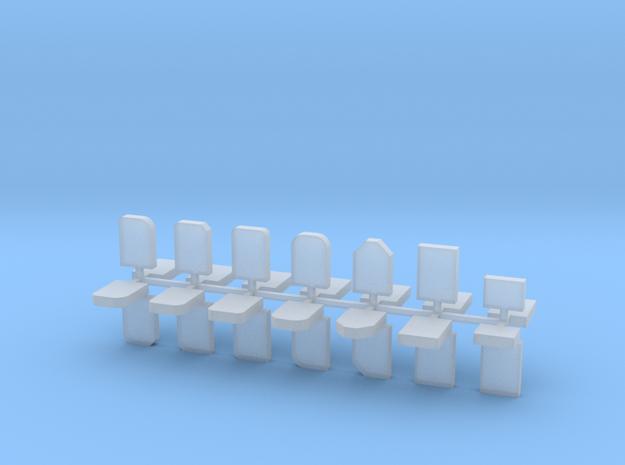 Grabsteine 28er Set 1:100 in Smooth Fine Detail Plastic