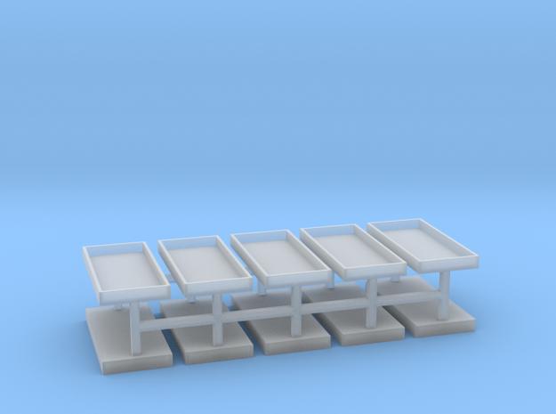 Gräber Set3 Grabeinfassungen 10er Set - 1:100 in Smooth Fine Detail Plastic