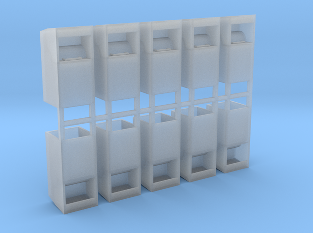 Altkleidercontainer 10er Set 1:72 in Smooth Fine Detail Plastic