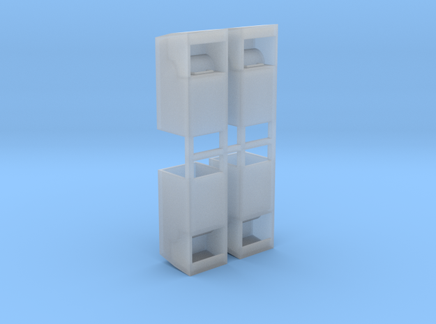 Altkleidercontainer 4er Set 1:87 H0 in Smooth Fine Detail Plastic