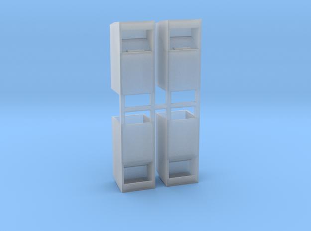 Altkleidercontainer 4er Set 1:100 in Smooth Fine Detail Plastic