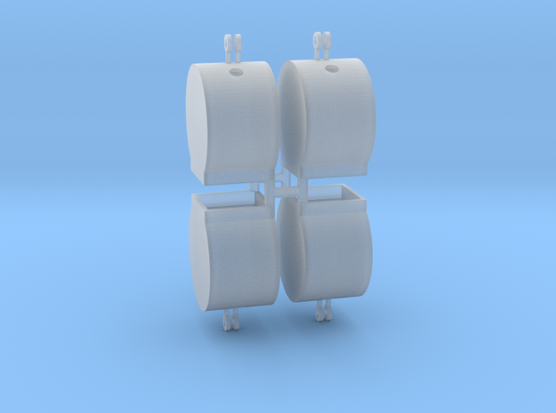 Altglascontainer Trommel 4erSet 1:100 in Smooth Fine Detail Plastic