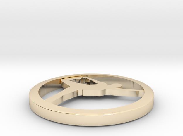 """Yoga jewelry earring 1 hoop .75"""" in 14k Gold Plated Brass"""