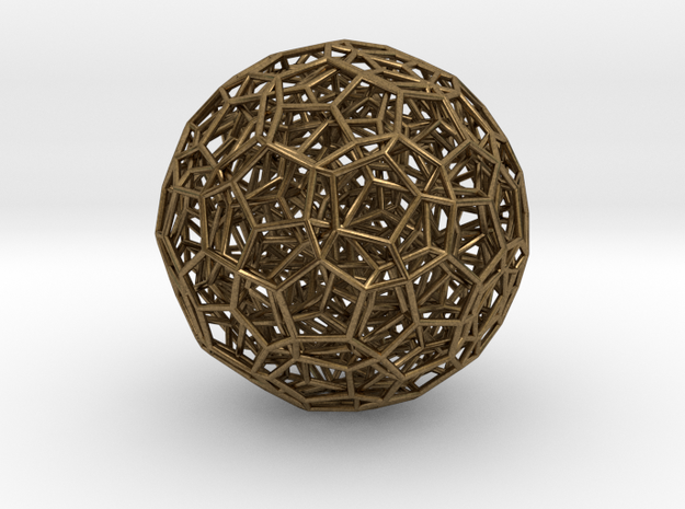 120-Cell with Ghost Symmetry in Natural Bronze